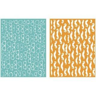 Goosebumpz A2 Embossing Folders 2/Pkg - Fellow
