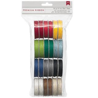 Value Pack Hemp Twine 5 Yards/Spool 24/Pkg - 12 Basic Colors/2 Each
