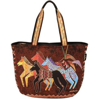 Shoulder Tote Zipper Top 23-1/2 X5-1/2 X15-1/4  - Native Horses