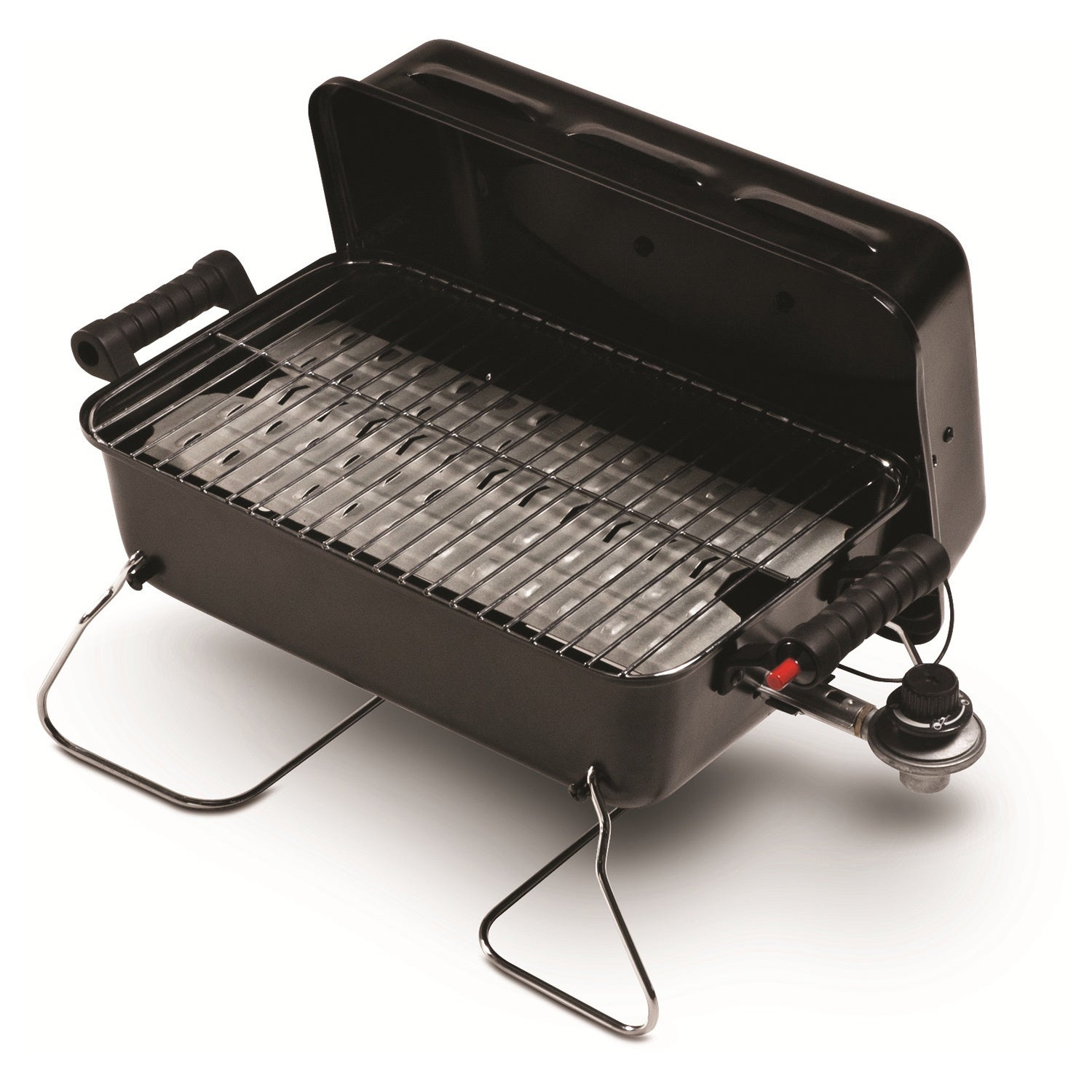 Char-Broil Push-button Ignition Portable Gas Grill, Black...