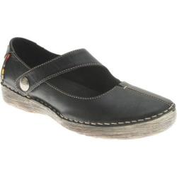 Women's Spring Step Debutante Black Leather