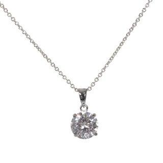 NEXTE Jewelry Brass Cubic Zirconia Solitaire Necklace