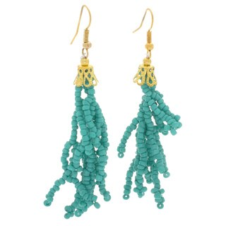 NEXTE Jewelry Brass Turquoise Bead Earrings