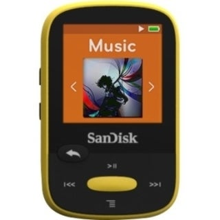 SanDisk Clip Sport SDMX24-004G 4 GB Flash MP3 Player - Yellow