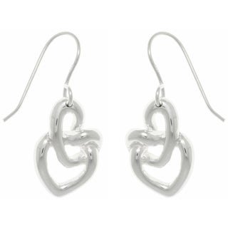 Carolina Glamour Collection Sterling Silver Love Knot Dangle Earrings