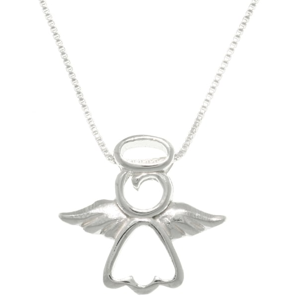 Sterling Silver 'My Little Angel' Necklace