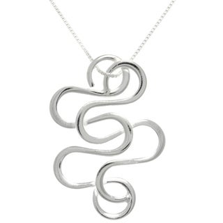 Carolina Glamour Collection Sterling Silver Snake Swirl Necklace