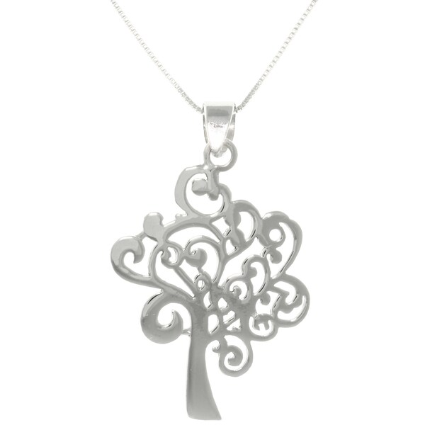 Sterling Silver Artistic Tree Necklace