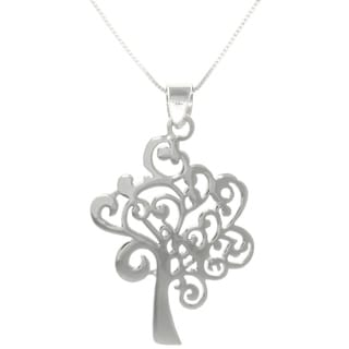 Carolina Glamour Collection Sterling Silver Artistic Tree Necklace