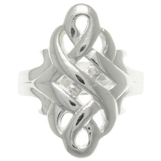 Sterling Silver Celtic Devotion Swirl Ring