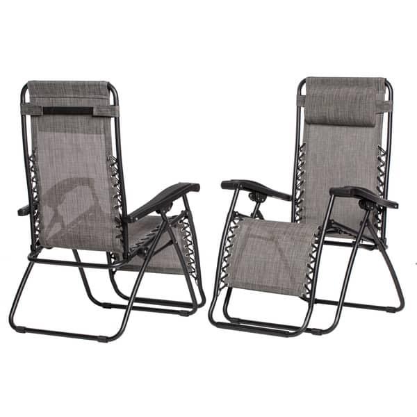 Surprising Shop Caravan Sports Grey Infinity Zero Gravity Chair Pack Alphanode Cool Chair Designs And Ideas Alphanodeonline