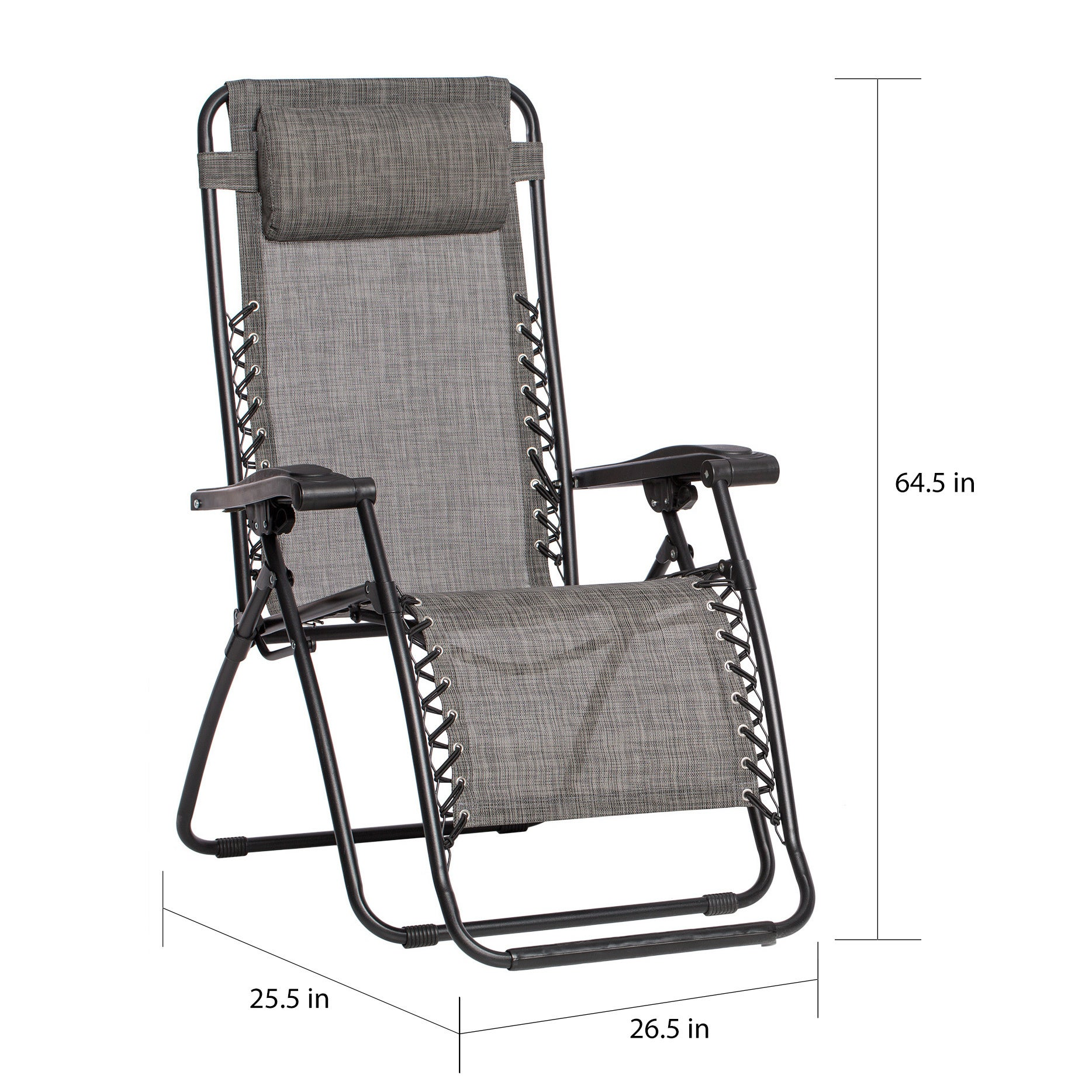 Caravan Sports Grey Infinity Zero Gravity Chair (Pack of 2)