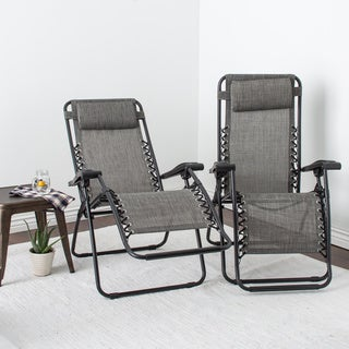Caravan Canopy Grey Infinity Zero Gravity Chair (Pack Of 2) Part 64