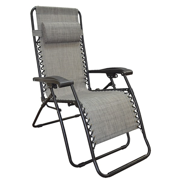 Charmant Caravan Canopy Grey Infinity Zero Gravity Chair