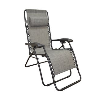Caravan Canopy Grey Infinity Zero-Gravity Chair