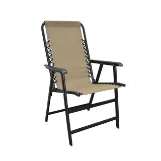Caravan Canopy Beige Steel Frame Suspension Folding Chair
