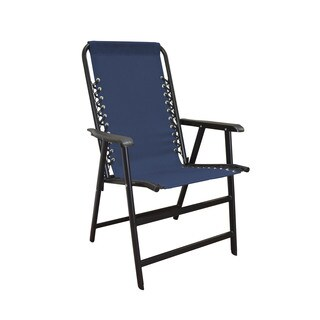 Caravan Canopy Blue/Black Textiline/Metal Suspension Folding Chair