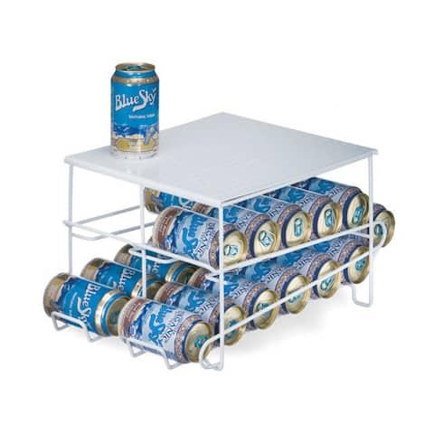 Organized Living White 24 Can Beverage Dispenser