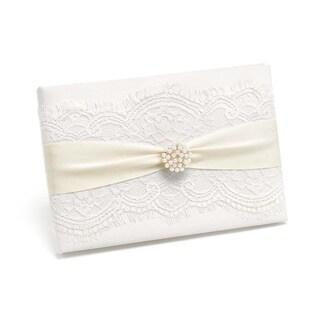 White/ Ivory Splendid Elegance Guest Book