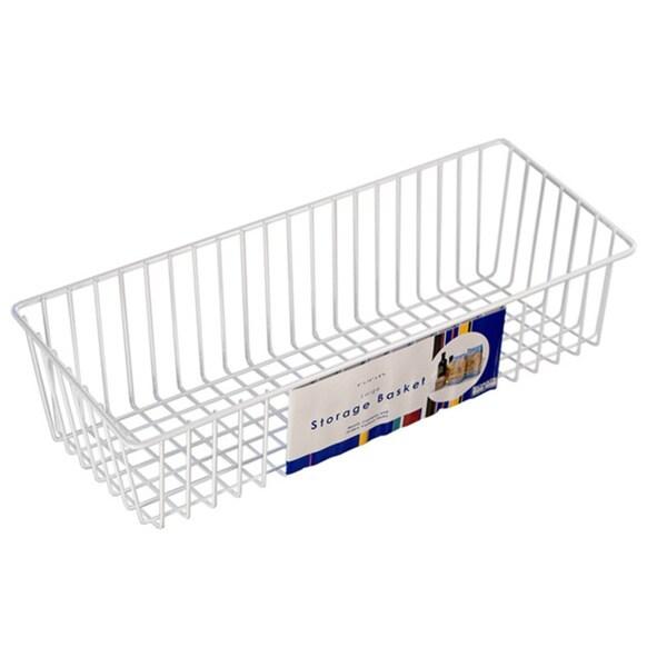 Organized Living White Large Simple Basket