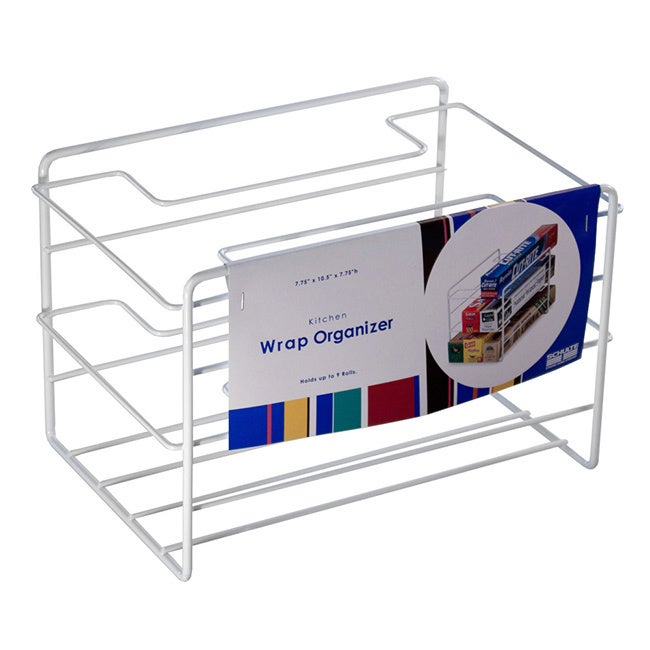Kitchen Wrap Organizer | Organized Living White Kitchen Wrap Organizer 696542599685 Ebay