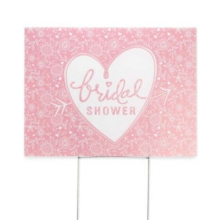 Pink Bridal Shower Yard Sign