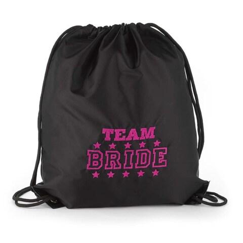 Hortense B. Hewitt Team Bride Black Cinch Bag
