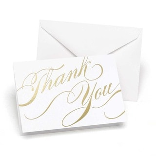 Hortense B. Hewitt Gold Unending Gratitude Thank You Cards
