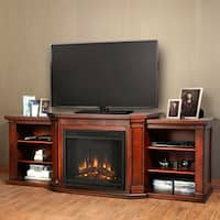 Real Flame Valmont Entertainment Electric Fireplace Dark Mahogany