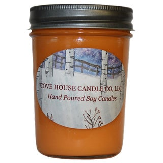 Scented Orange 8-ounce Jelly Jar Soy Candle
