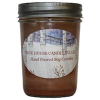 Scented Brown 8-ounce Jelly Jar Soy Container Candle