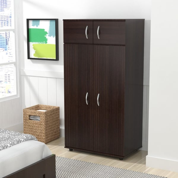 inval espresso wenge armoire free shipping today. Black Bedroom Furniture Sets. Home Design Ideas