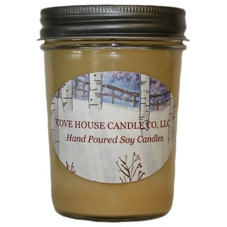 Scented Tan 8-ounce Jelly Jar Soy Candle