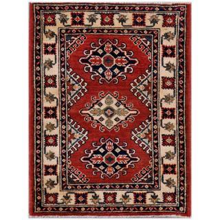 Herat Oriental Afghan Hand-knotted Kazak Wool Rug (2'1 x 2'9)