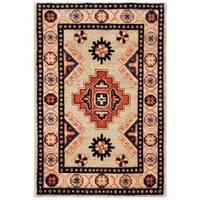 Herat Oriental Afghan Hand-knotted Kazak Wool Rug - 1'11 x 2'11