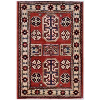 Herat Oriental Afghan Hand-knotted Kazak Wool Rug (2' x 2'11)