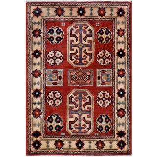 Herat Oriental Afghan Hand-knotted Kazak Wool Rug (2'1 x 3')