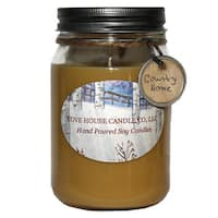 Scented Tan 16-ounce Canning Jar Soy Candle
