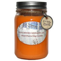Scented Orange 16-ounce Canning Jar Soy Candle