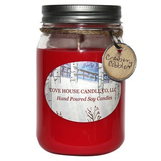 Scented Red 16 oz. Canning Jar Soy Candle - 16 oz