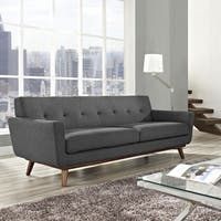 Modway Engage Mid Century Fabric Upholstered Sofa