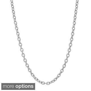 "Sterling Silver Cable Chain Necklace (18-24"")"