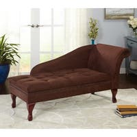 Simple Living Chocolate Brown Storage Chaise - N/A