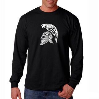 Los Angeles Pop Art Men's 'Spartan' Black Long Sleeve T-shirt