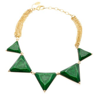 Amrita Singh Brass 5-piece Evergreen Resin Necklace