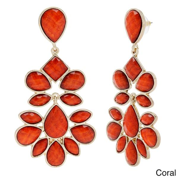 Amrita Singh Brass Dangling Multi-piece Resin Earrings