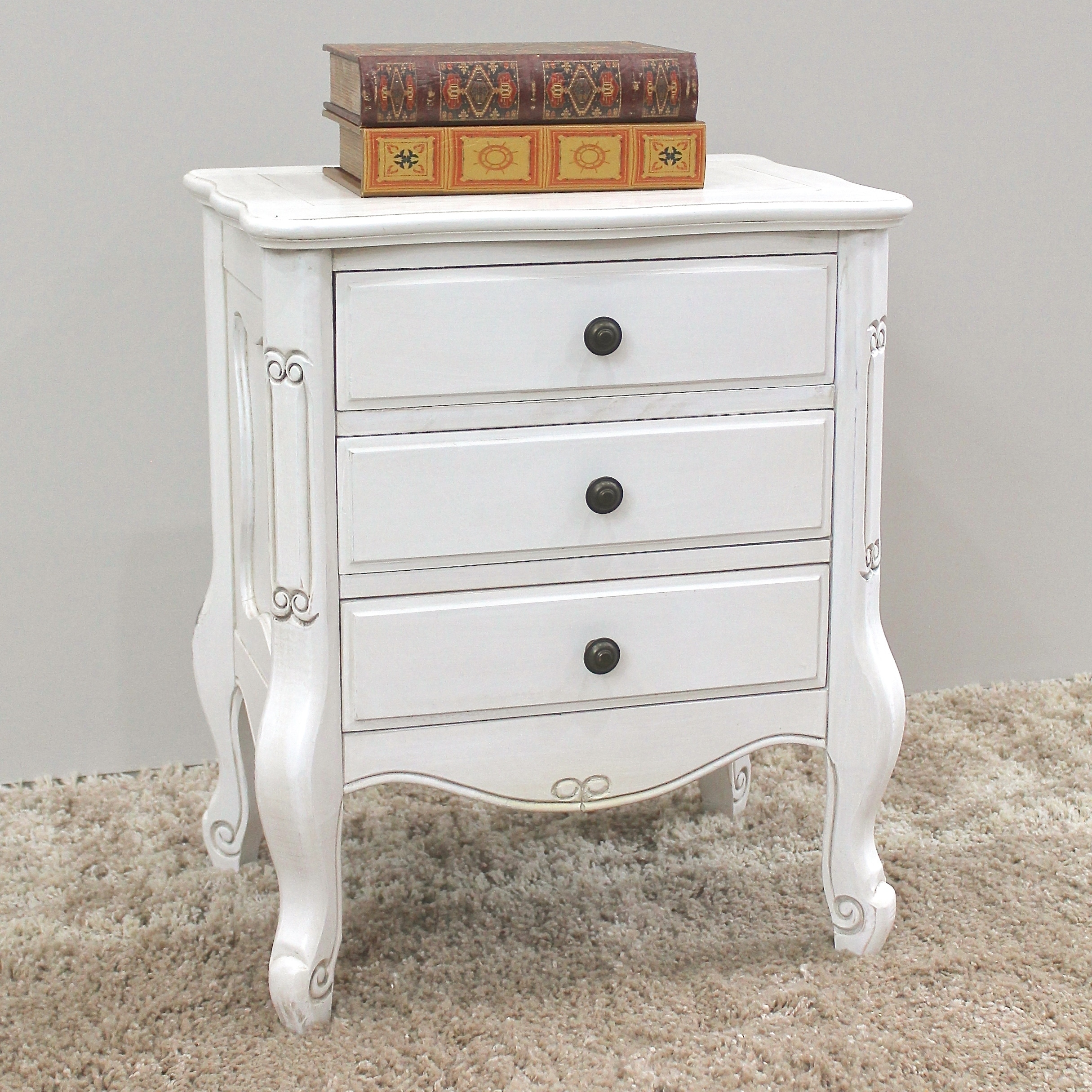 product drawer antique nightstand white oak montreux
