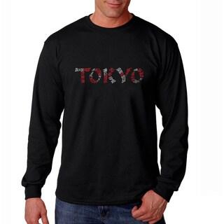 Los Angeles Pop Art Men's 'Tokyo' Long Sleeve T-shirt