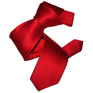 Dmitry Men's Red Italian Silk Tie
