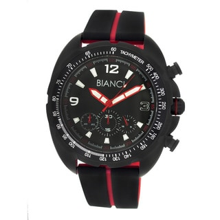 Roberto Bianci Men's Sports Black/ Red Chronograph Watch